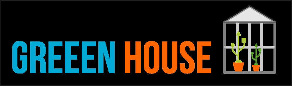 Logo Greeenhouse mit Haus türkis und orange
