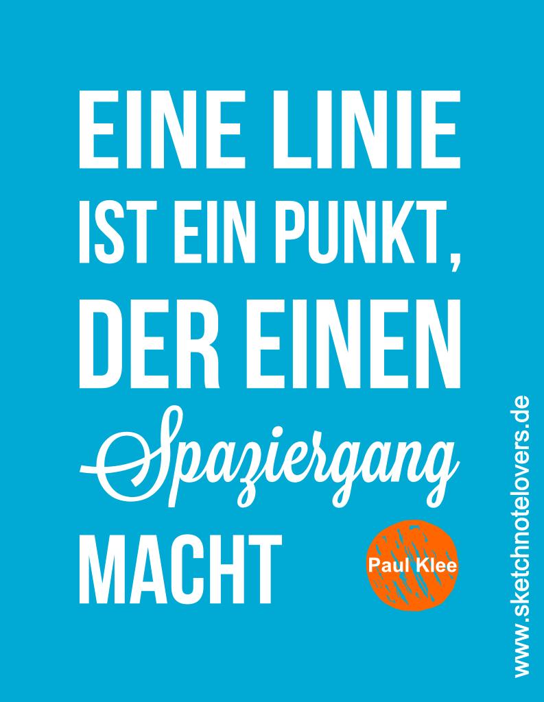 Paul Klee eine linie ist ein Punkt