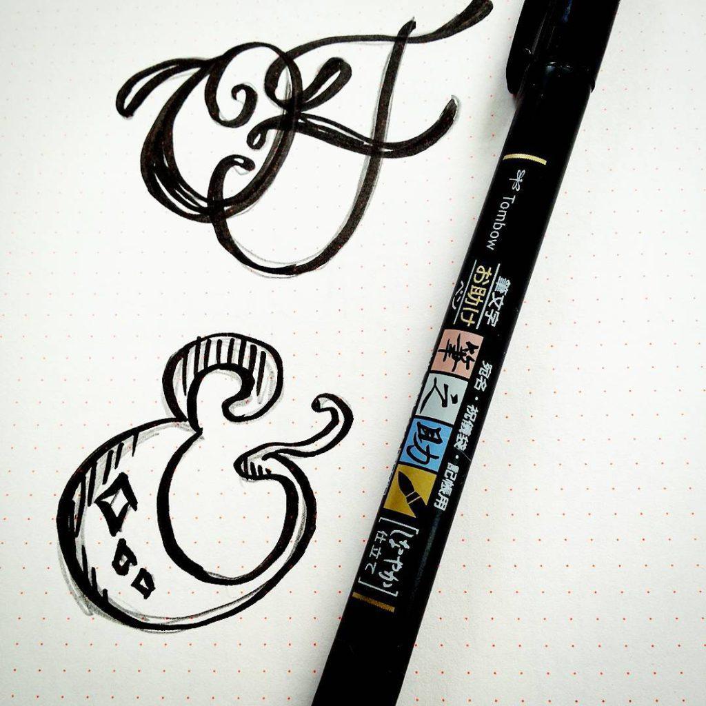 Telefonnotiz Wenn halt auch ein tombowbrush calligraphypen hier rumlungert ampersandlovehellip
