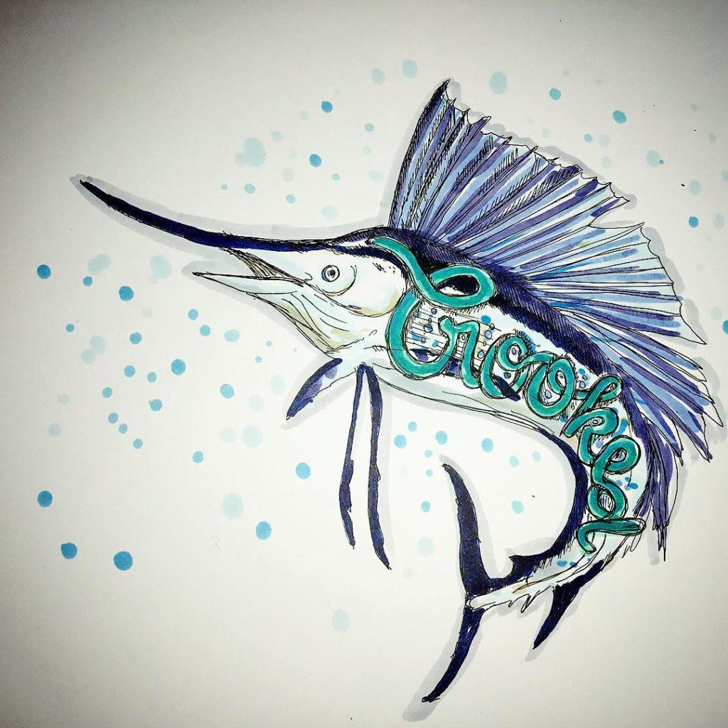 inktober2017 crooked Ich finde Schwertfische sehr cool und beeindruckend Frhellip