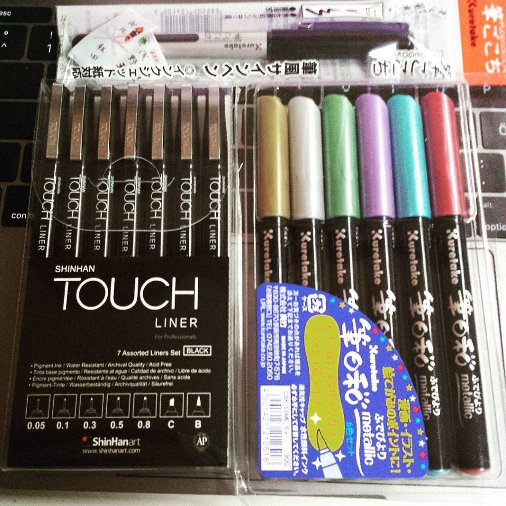 Post aus Japan Ich liebe die Touch Fineliner Die liegenhellip